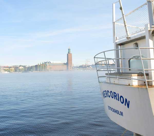 På Mercorion där ena spåret under MEA hölls hade vi en vacker utsikt mot Riddarfjärden